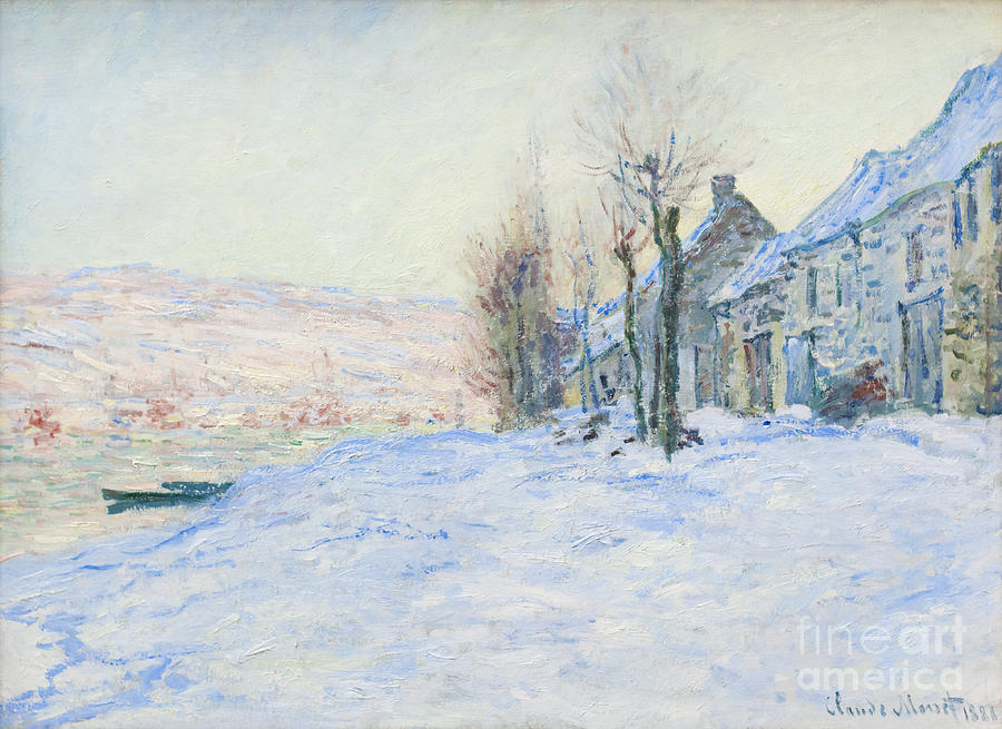 Lavacourt under snow by Claude Monet Photograph by Roberto Morgenthaler