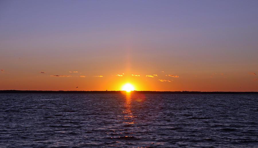 Lavallette Photograph - Lavallette Sunset I by Dave Dos Santos