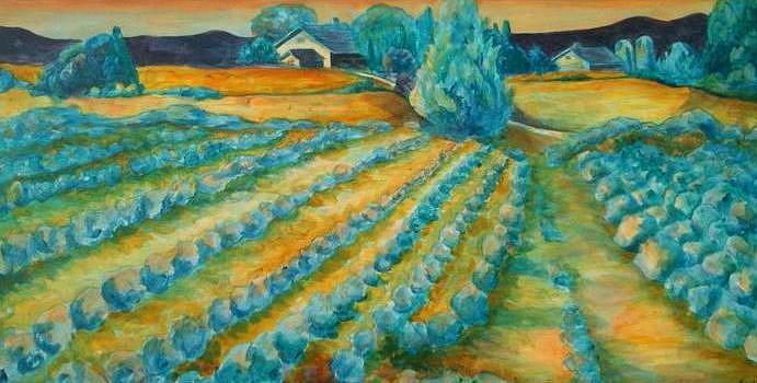 Lavendar Painting - Lavendar Fields by Bianca Romani