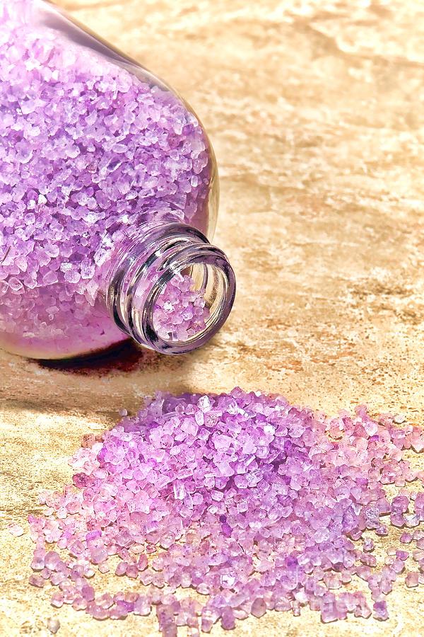 Sea Salts Photograph - Lavender Bath Salts by Olivier Le Queinec