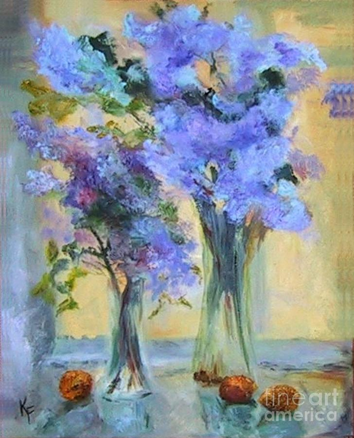 Floral Painting - Lavender Bliss by Kathleen Farmer