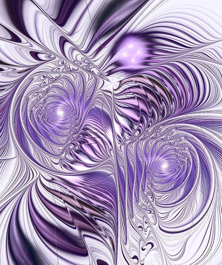 Interior Digital Art - Lavender Elegance by Anastasiya Malakhova