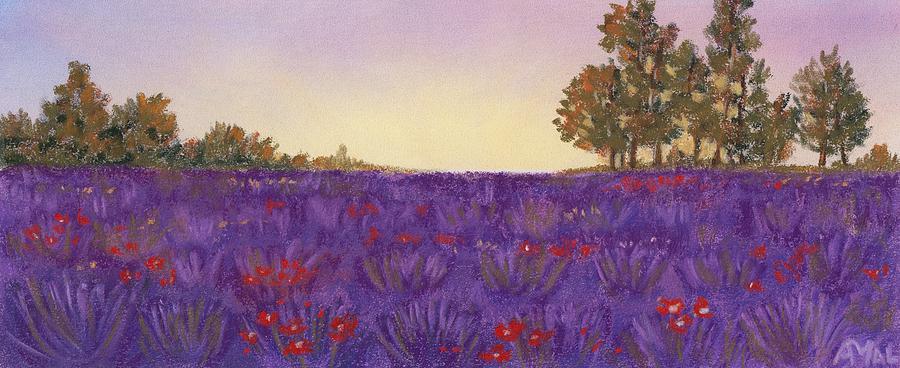 Evening Painting - Lavender Evening by Anastasiya Malakhova
