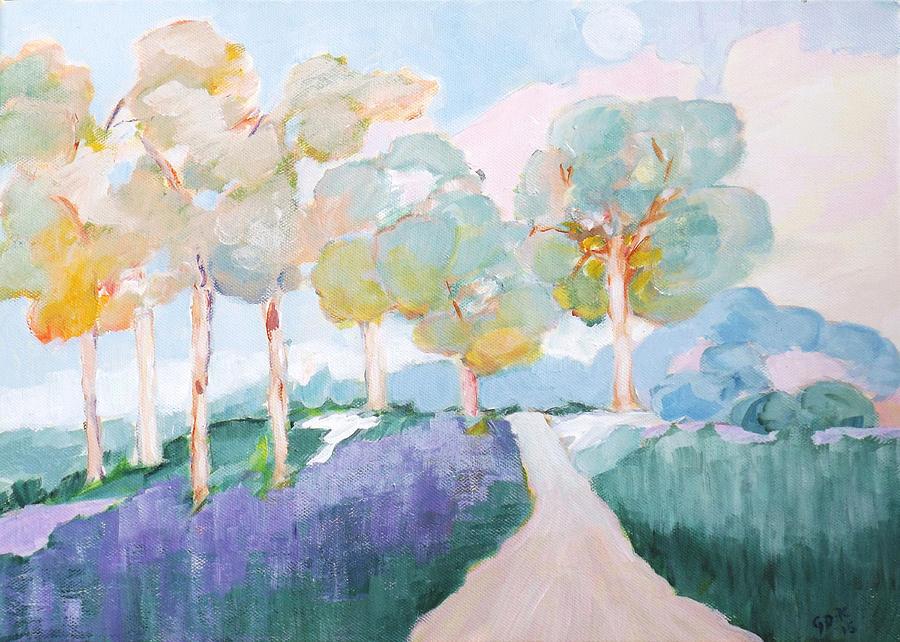 Lavender Field by Gloria Dietz-Kiebron