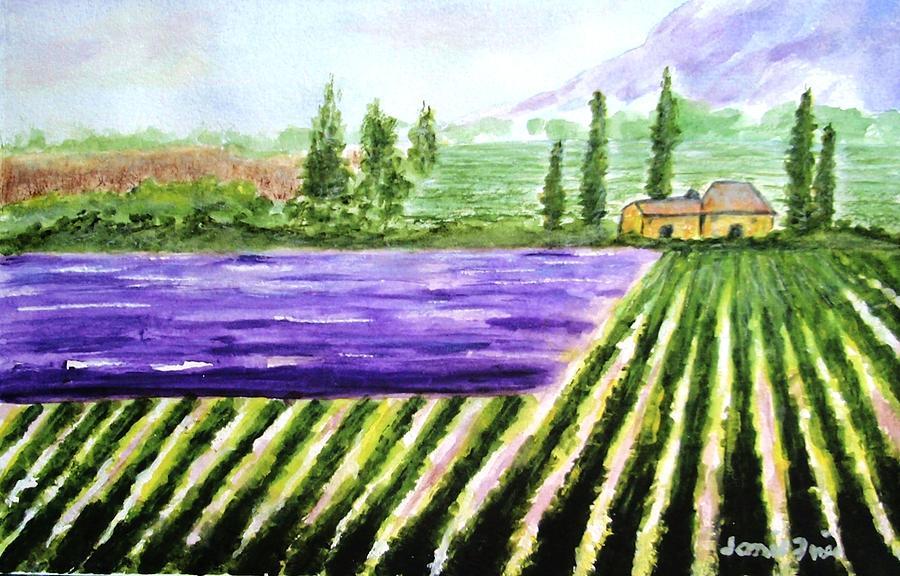 Landscape Painting - Lavender Field by Jamie Frier