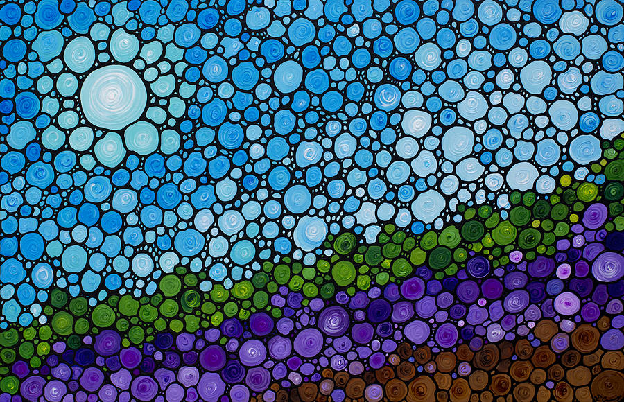 France Painting - Lavender Fields - France French Landscape Art by Sharon Cummings