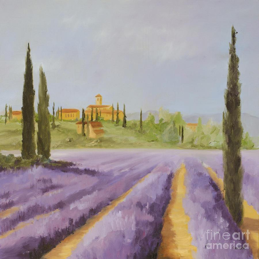 Lavender Painting - Lavender Fields I by Logan Gerlock