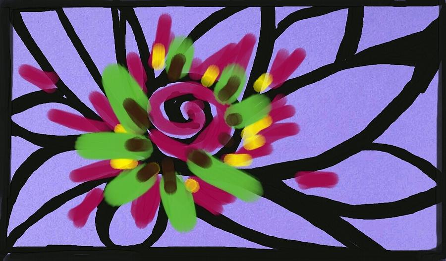 Flower Digital Art - Lavender Flower by Merle Barge