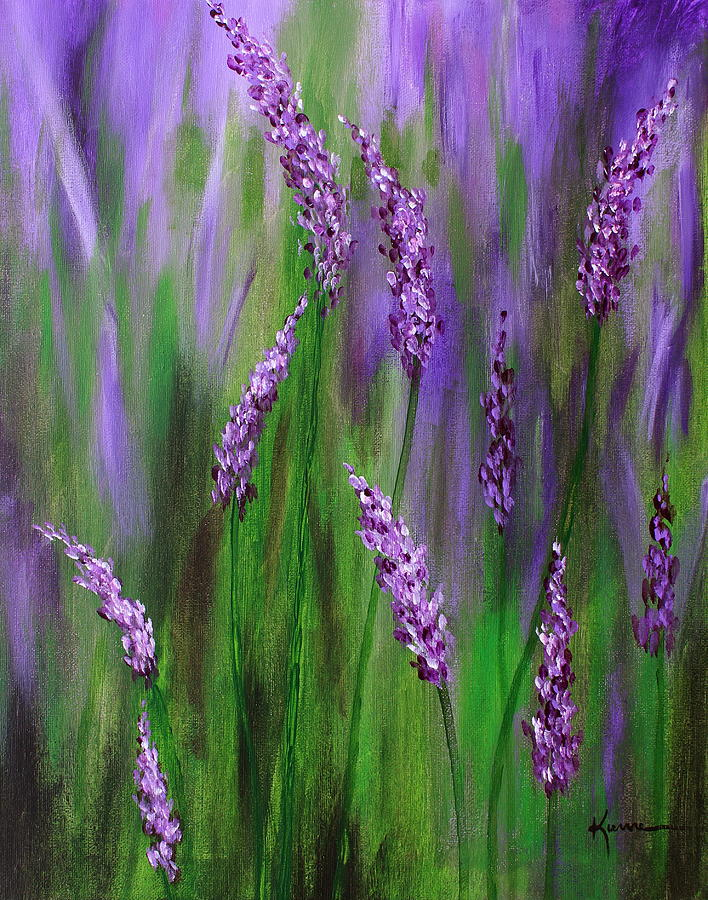 Lavender Garden Painting by Kume Bryant