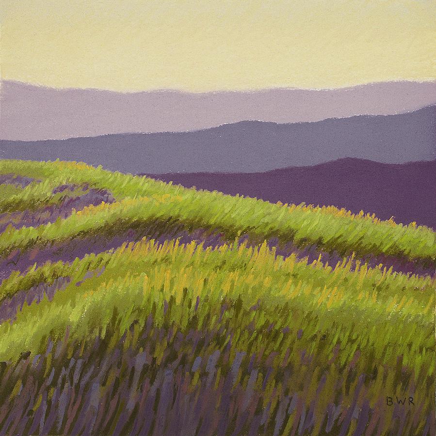 Landscape Pastel - Lavender Hills Forever by Bruce Richardson