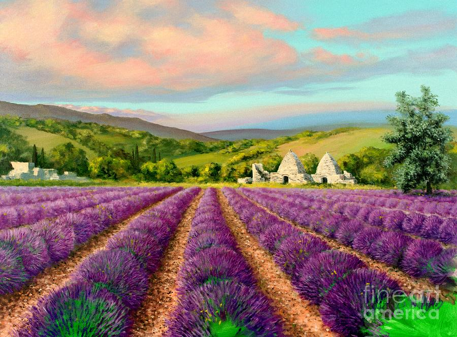 French Painting - Lavender II by Michael Swanson