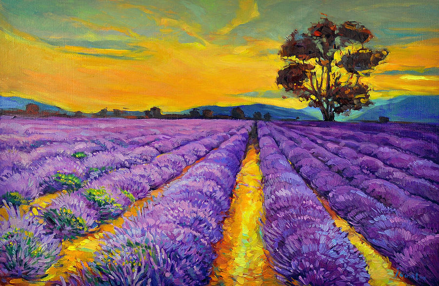 Abstract Painting - Lavender by Ivailo Nikolov