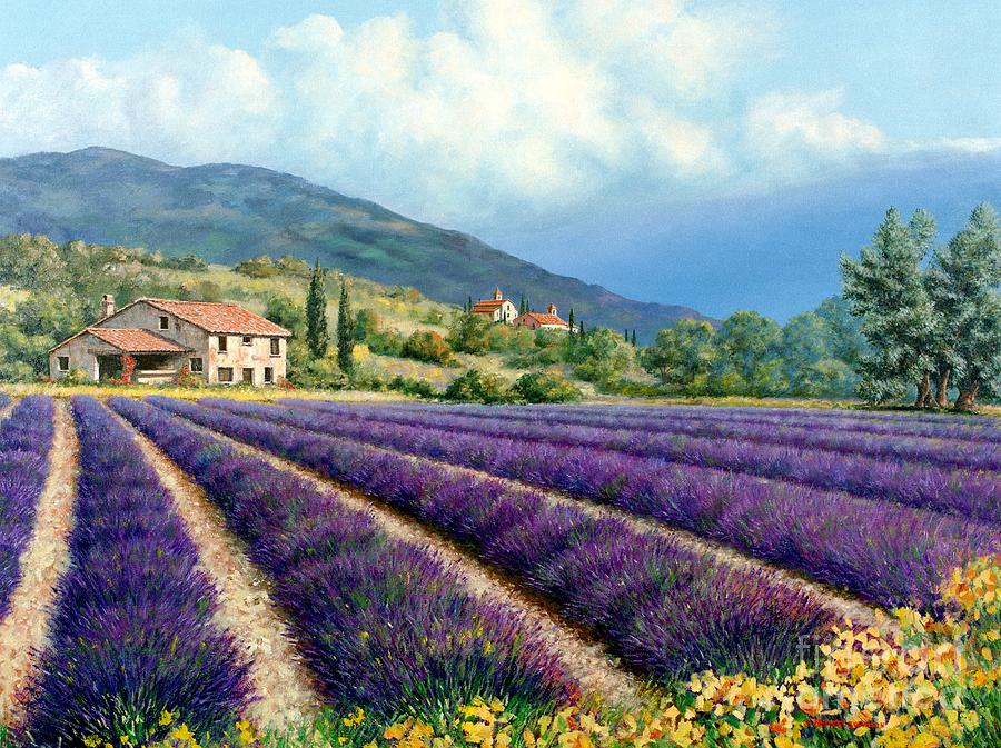 Provence Painting - Lavender by Michael Swanson