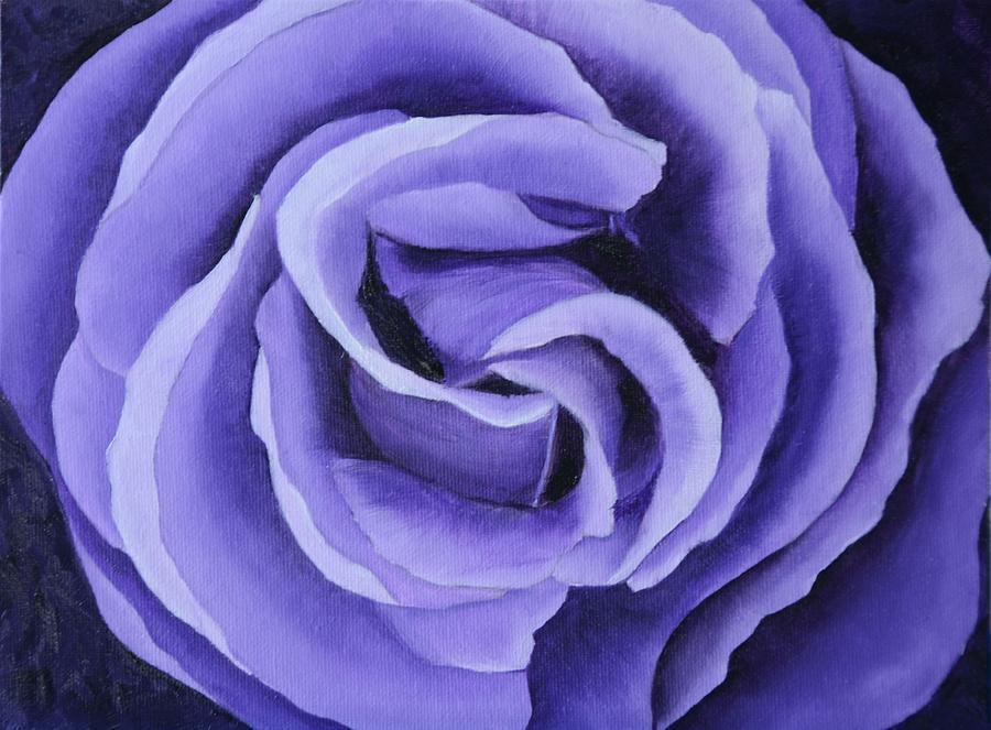 Lavender Rose Painting - Lavender Rose by Marsha Thornton