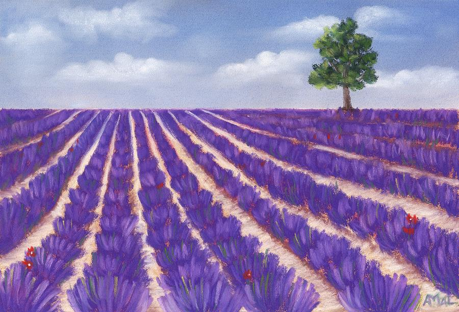 Season Painting - Lavender Season by Anastasiya Malakhova