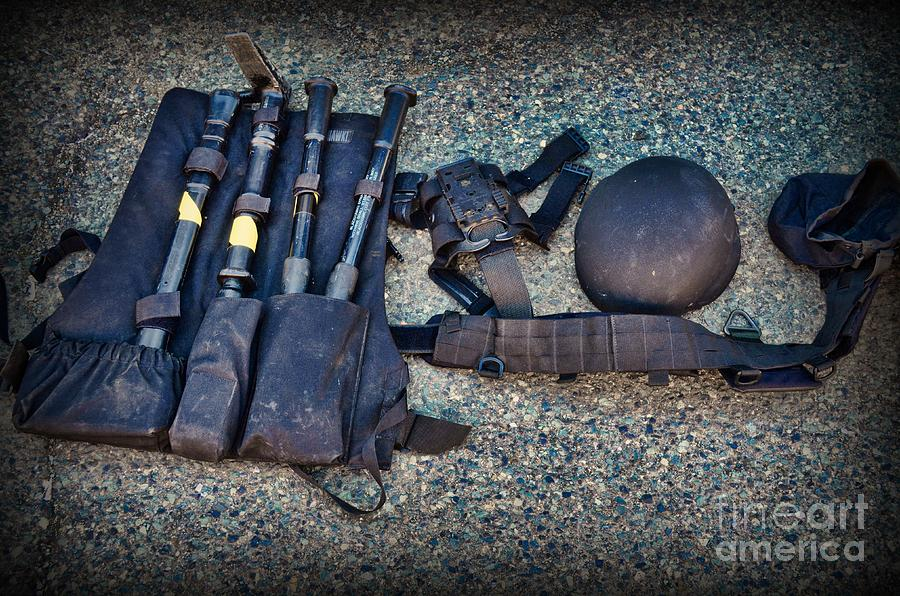 Swat Photograph - Law Enforcement -swat Gear - Entry Tools by Paul Ward