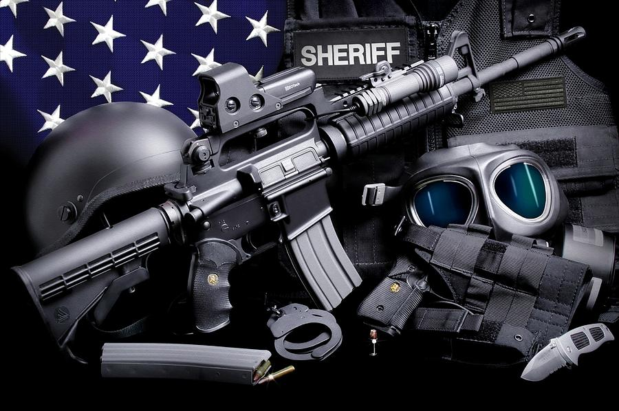 Law Enforcement Photograph - Law Enforcement Tactical Sheriff by Gary Yost