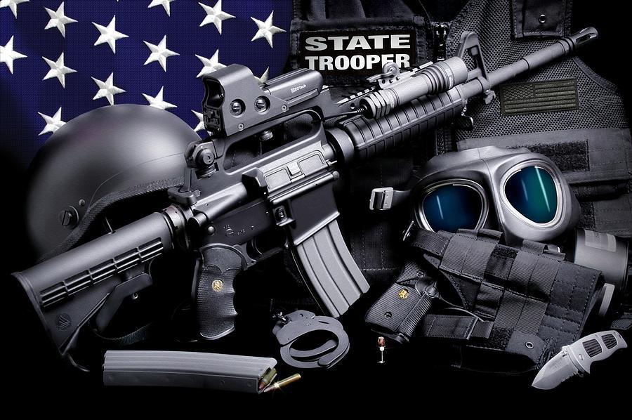 Law Enforcement Photograph - Law Enforcement Tactical Trooper by Gary Yost