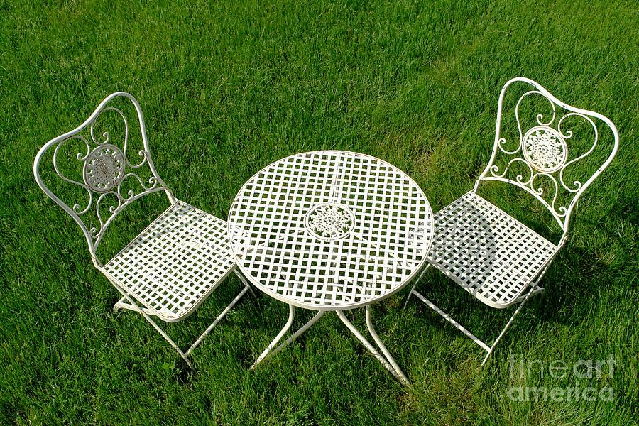 Cast Photograph - Lawn Furniture by Olivier Le Queinec
