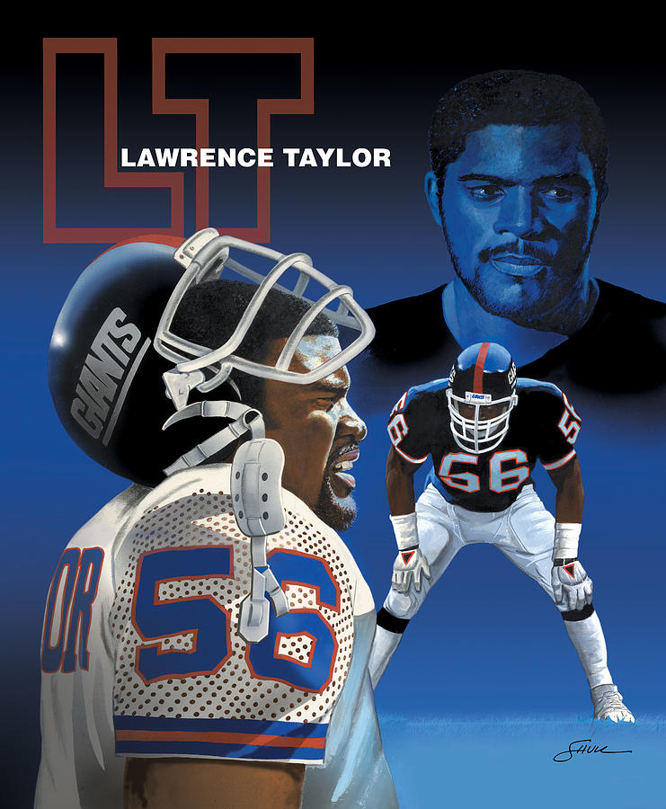 Lawrence Taylor Painting by Harold Shull