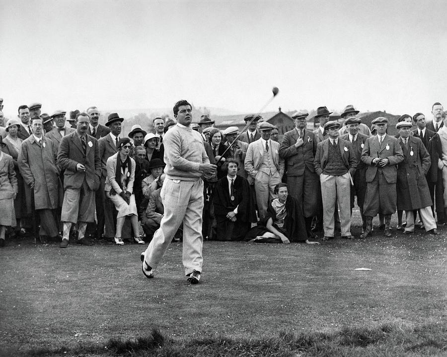 Lawson Little Holding A Golf Club Photograph by International News Photos