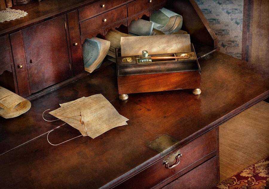 Hdr Photograph - Lawyer - Important Documents  by Mike Savad