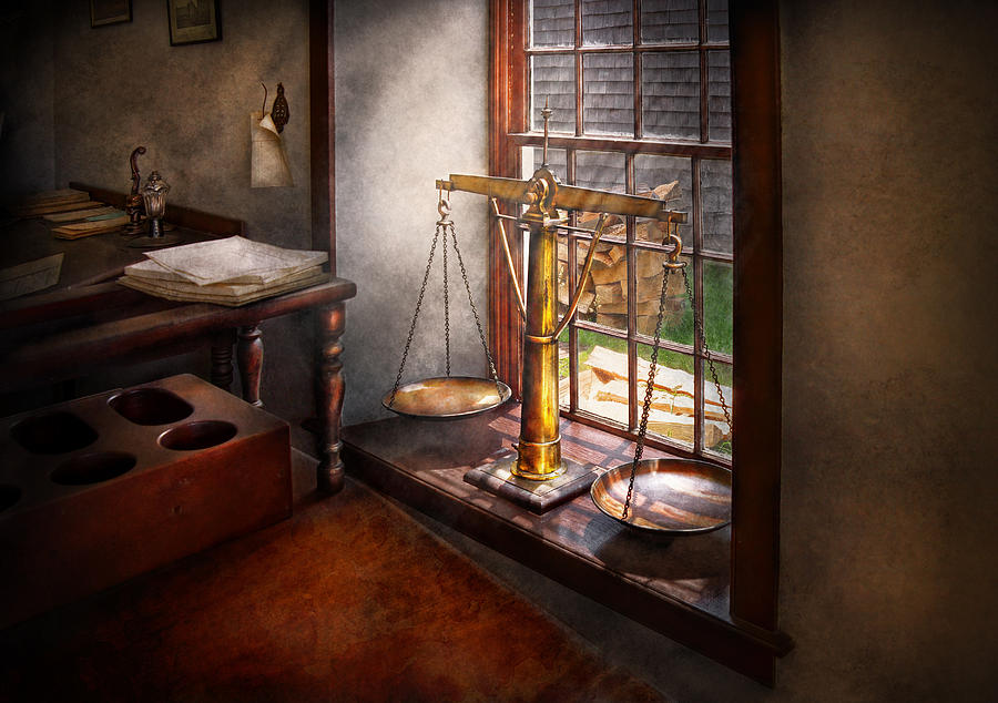 Hdr Photograph - Lawyer - Scales Of Justice by Mike Savad