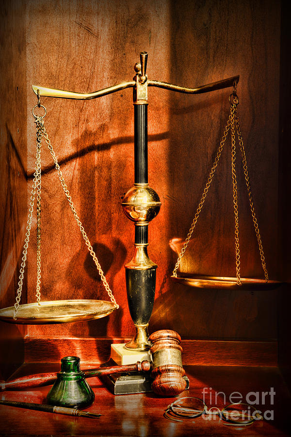 Paul Ward Photograph - Lawyer - Scales of Justice by Paul Ward