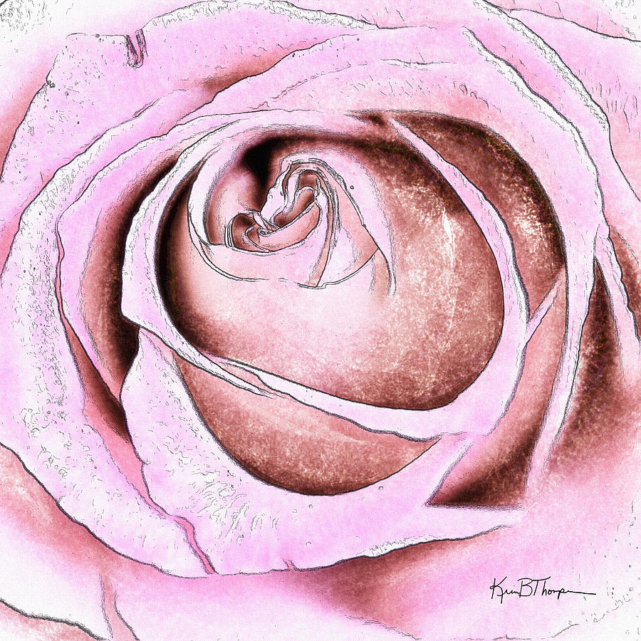 Pink Digital Art - Layers Of Love by Kim Thompson