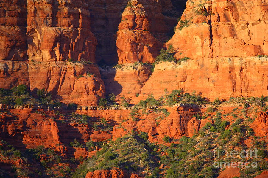 Red Rocks Photograph - Layers Of Red Rock by Carol Groenen