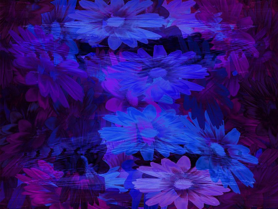Blue Glass Art - Layers by Tatiacha  Bhodsvatan