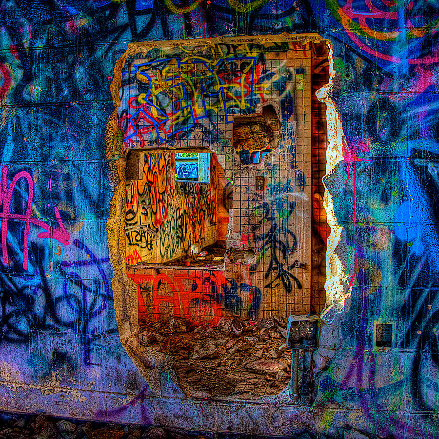 Graffiti Photograph - Layers by William Wetmore
