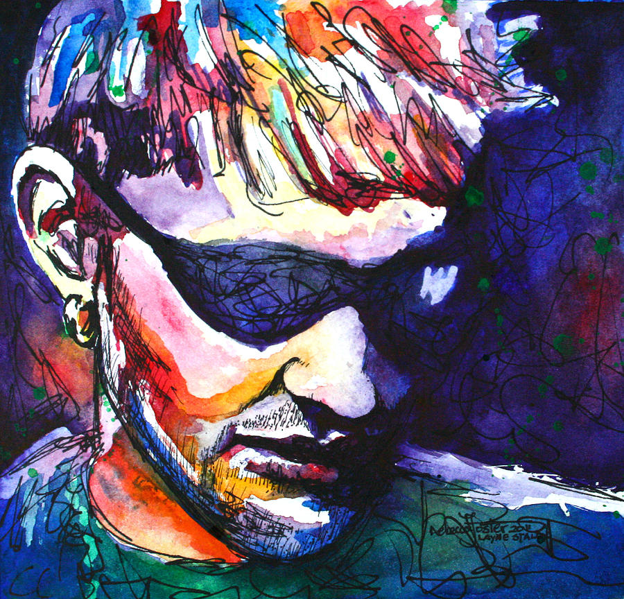 Music Painting - Layne by Rebecca Foster