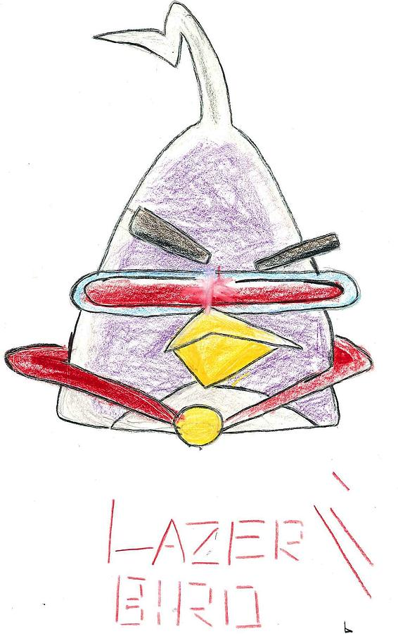 Lazer Angry Bird Drawing by Ethan Chaupiz