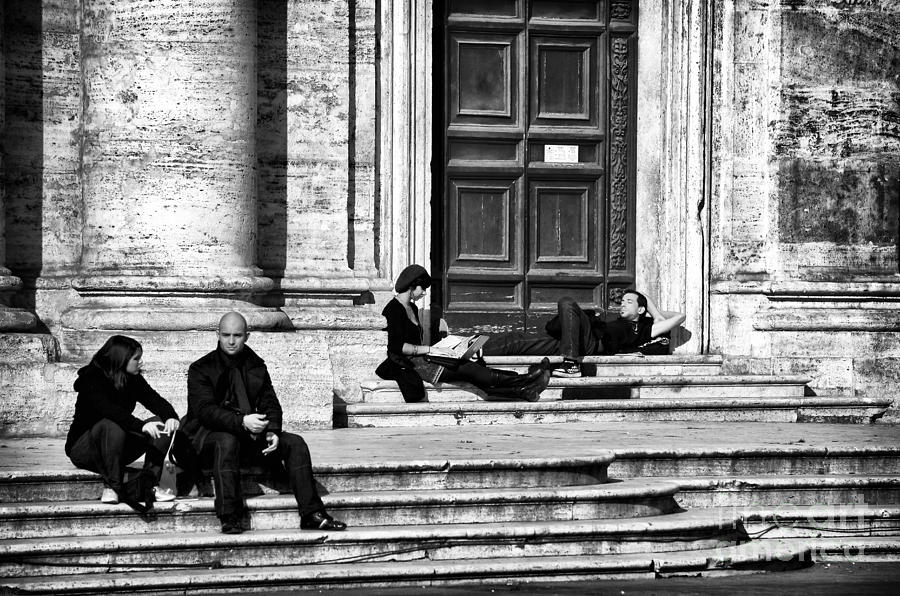 Lazy Day In Roma Photograph - Lazy Day In Roma by John Rizzuto