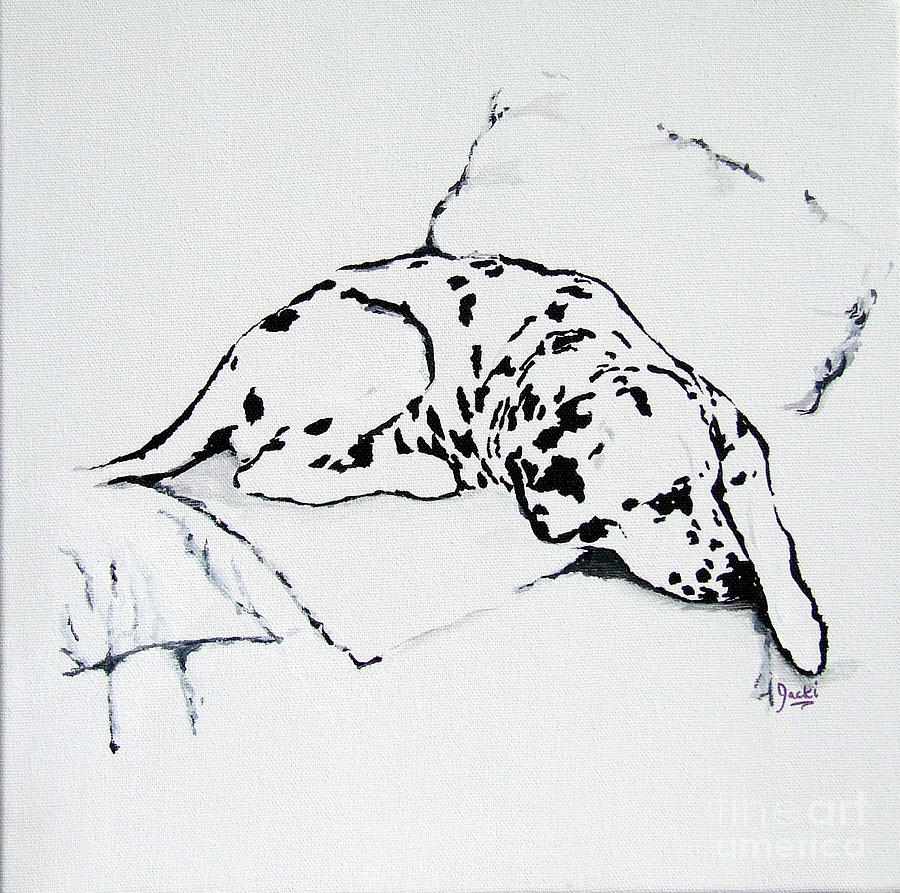 Dogs Painting - Lazy Day by Jacki McGovern