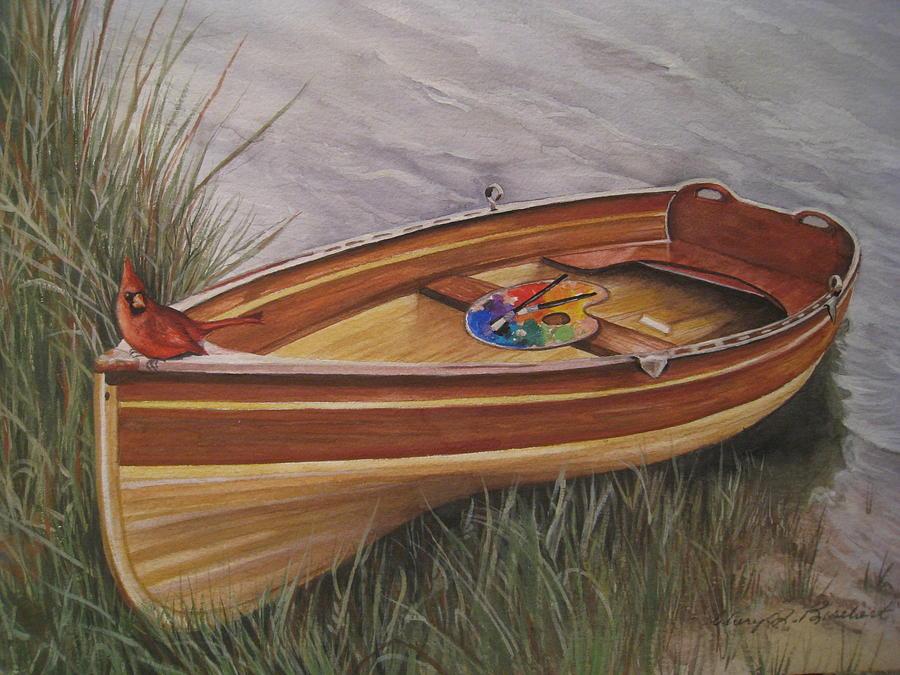 Rowboat Painting - Lazy Day Retreat by Cheryl Borchert