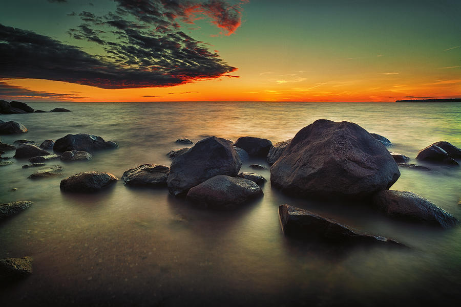 Water Photograph - Lazy Sunset by Stuart Deacon