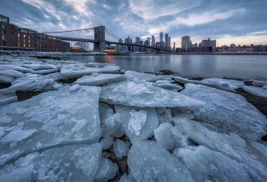Manhattan Photograph - Lce City by Jie Chen
