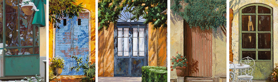 Door Painting - Le 5 Porte by Guido Borelli