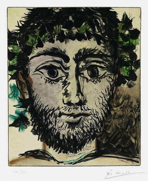 Le Faune Mixed Media by Pablo Picasso