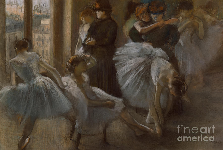 Dancer Painting - Le Foyer De Lopera by Edgar Degas