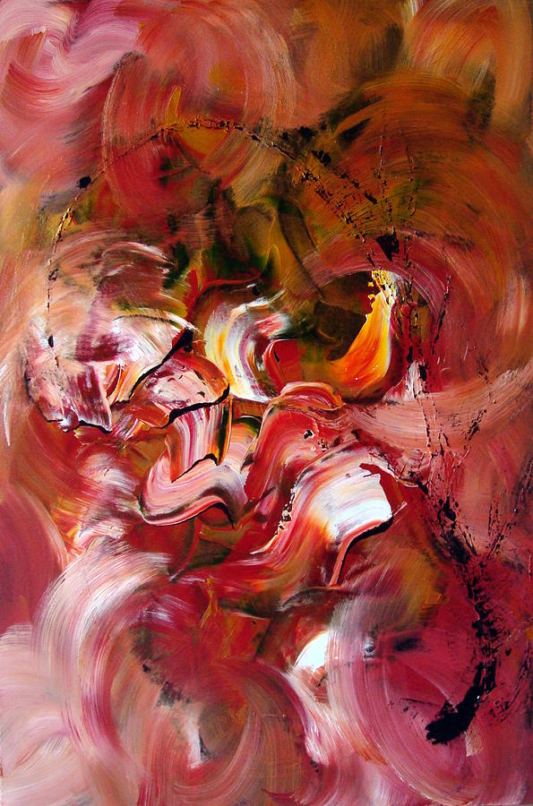 Abstract Painting - Le Jardin Extraordinaire by Isabelle Vobmann