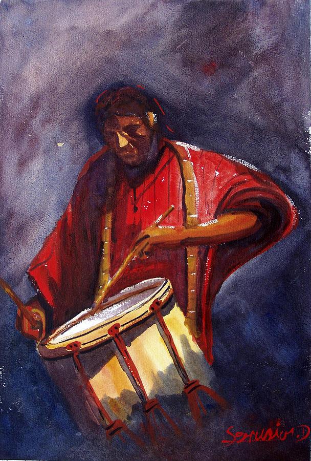 Le Joueur De Tambour  Painting - Le Joueur De Tambour  The Drum Player by Dominique Serusier
