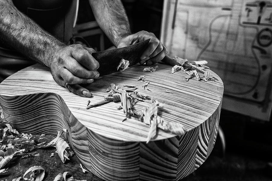 Luthier Photograph - Le Luthier by Manu Allicot