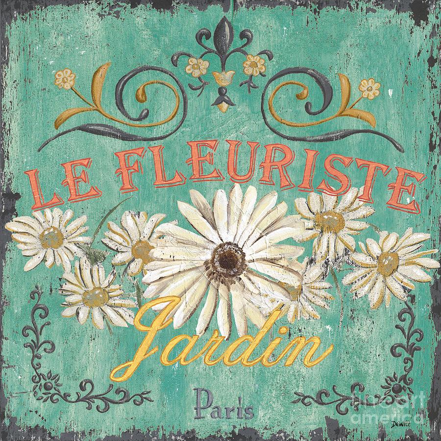 Le Marche Aux Fleurs 6 Painting