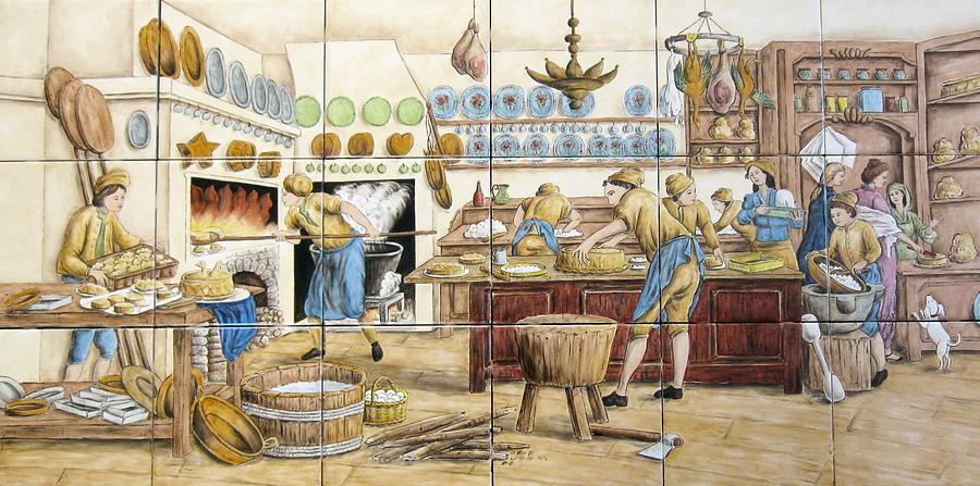 Denis Diderot Painting - Le Patissier By Diderot by Julia Sweda