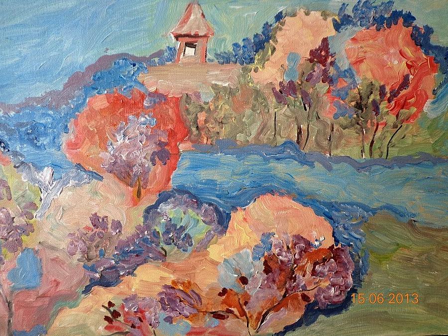 Le Printemps Painting by Farfallina Art -Gabriela Dinca-