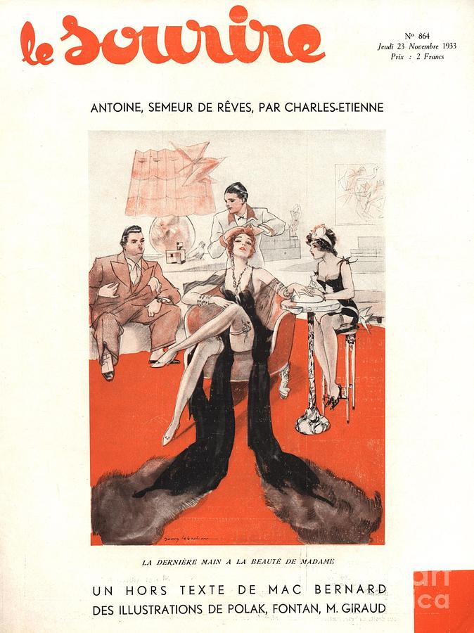 1930�s Drawing - Le Sourire 1933 1930s France Glamour by The Advertising Archives