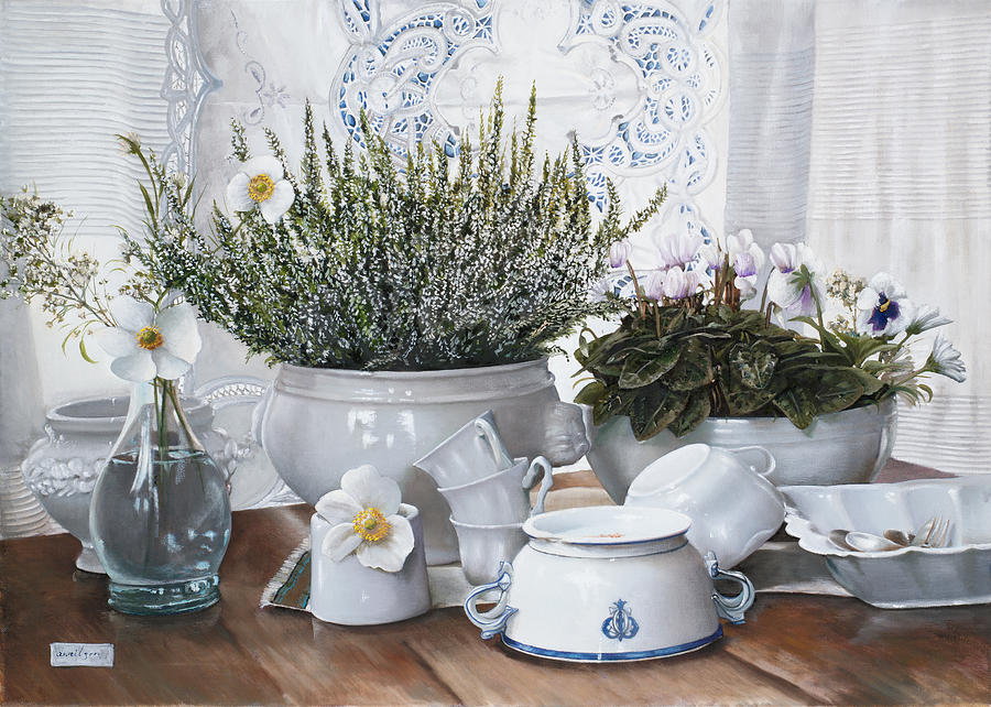 Le Tazze Rovesciate Painting